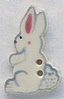 86193 - White Tall Rabbit-Facing Left 3/4in x 1 1/16in - 1 per